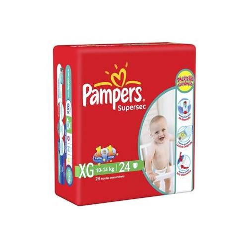 Fralda Pampers Supersec XG com 24 un.