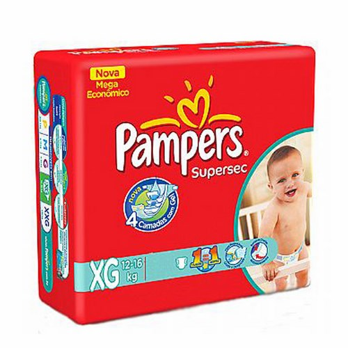 Fralda Pampers Supersec Xg com  18 Unidades
