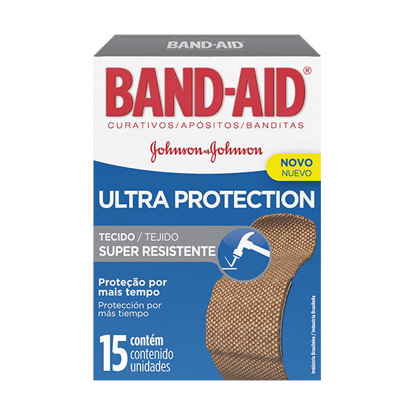 Band-Aid Ultra Protection Super Resistente com 15 unidades