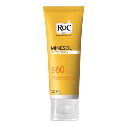 Protetor Solar RoC Minesol Actif Unify Gel Creme FPS60 50g