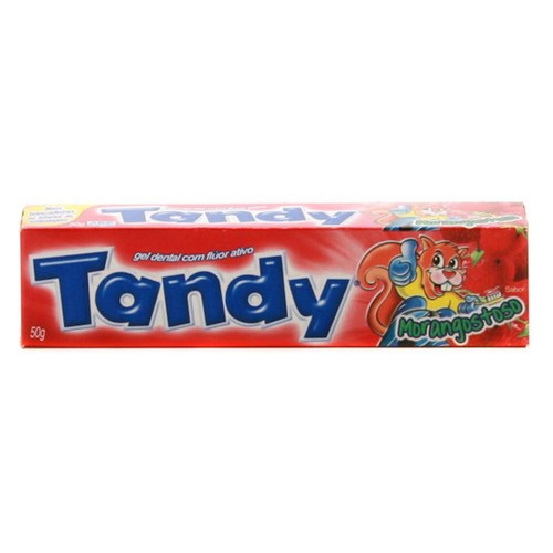 Creme dental tandy 50gr morango