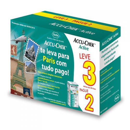 Accu-Chek Active 50 Tiras Leve 3 Pague 2